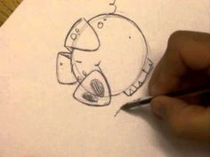 How to draw a pig and cartoon elephant, just for fun