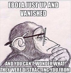 I JUST said this yesterday...WHAT were they distracting us from? EBOLA, EBOLA, EBOLA...everday, for weeks and then all of a sudden ...NOTHING!.
