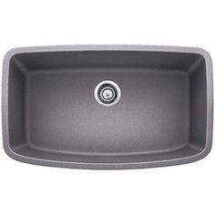Blanco Valea Metallic Grey 1.0 Super Single-bowl Undermount Sink - Free Shipping Today - Overstock.com - 19461082 - Mobile