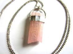 pegasus  raw pink tourmaline  raw crystal by callistojewelry, $43.00