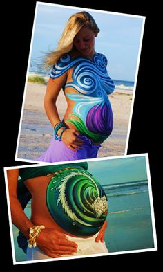 beautiful wonderful body and belly painting
