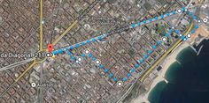 Sant Marti, Poble Nou - Distance: 7.1 kms This route starts at the foot of Torre Agbar, and you will discover la Rambla del Poblenou, el Fórum, la Diagonal. Metro Glories, Line 1 #running #barcelona #jogging