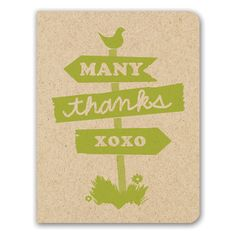 Thank You Card - Country Sign - only $4.99 | Unique Gifts & Home Decor | Karma Kiss