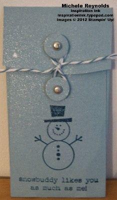 Snowman Petite Pocket Gift Card Holder