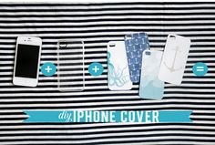 Cute, inexpensive gift idea or you can just make it for yourself: Free Printable DIY Summer iPhone Covers
