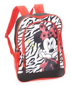 Take a look at this Red & Black Minnie Mouse Backpack by Global Design on #zulily today!