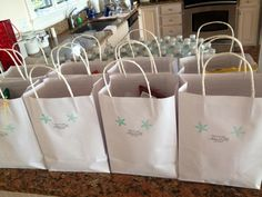 Hotel gift bags for guests