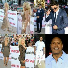 #PamelaAnderson, #DonnaDErrico, #ZacEfron, and #DwayneJohnson stepped out for the premiere of #Baywatch in Miami! • • • • • #PamelaAnderson, #DonnaDErrico, #ZacEfron e #DwayneJohnson saíram para a pré-estreia de #Baywatch em Miami!