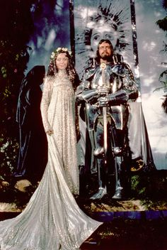 "Cheri Lunghi and Nigel Terry in ""Excalibur."""