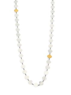 GURHAN - Clove 24K Yellow Gold & Sterling Silver Marquis Chain Necklace