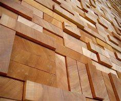 Muro de madera en el centro de convenciones de Vancouver