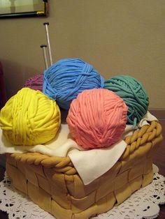 Knitting Basket Birthday Cake #yarn