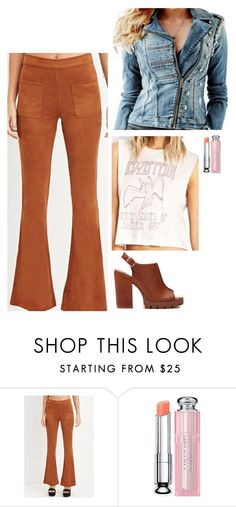 """Maya Hart Inspired Outfit"" by daniellakresovic ❤ liked on Polyvore featuring Forever 21, Christian Dior, women's clothing, women, female, woman, misses and juniors"