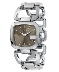 Gucci Watch, Women's Swiss Stainless Steel Bracelet 32x30mm YA125402