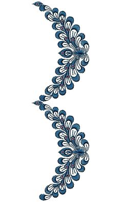 Smoldering Lace Border Design 16131 Hand Embroidery Patterns Free, Border Embroidery Designs, Crewel Embroidery, Beaded Embroidery, Embroidery Saree, Border Design, Lace Design, Jewellery Sketches, Lace Border