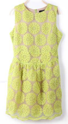 sunflower spring dress.