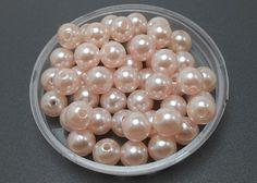 100 Light Pink Acrylic Pearl Beads 8mm 2x by OliviaMadisonCompany, $1.88