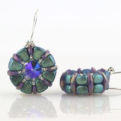 Nib-Bit Ear Gear Earrings Beading Kit SILVER/GREEN | Eureka Crystal Beads |    #beading #beads #bracelet #necklace #anklet #beadwork #beadweaving #beadloom #beading #Swarovski #gita #findings #bicones #rivolis #chatons #wirework #wirewrap #wirejewelry #jewelry #wirewrapping #seed #beads #miyuki #delica #delicas #toho #czechmates #kits #diy #craft #stringing #tutorial