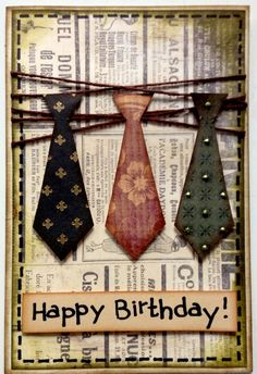 Birthday card for gentlemen :)