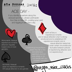 Another Ace Day infographic. This actually shows the card suits and their definitions.