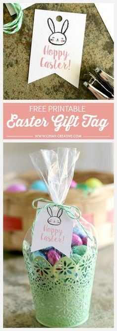 "Free Printable ""Hoppy"" Easter Gift Tags"