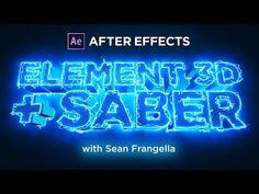 Saber + Element 3D V2 Tutorial - Combining SABER with Video Copilot E3D Text Layers - Sean Frangella - YouTube