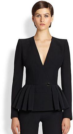 Peplum Jacket, Peplum Dress, Alexander Mcqueen, Office Outfits Women, Work Outfits, Versace Dress, Pantsuits For Women, Career Wear, Christian Clothing
