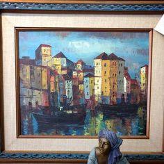 Sidewalk Sale - Oil on Canvas $35 (was $55)