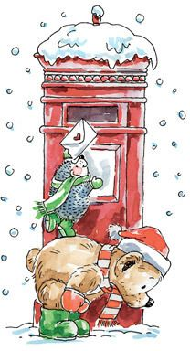 Frohe Weihnachten Hand-mailed from Penny Black Illustration Noel, Christmas Illustration, Illustrations, Penny Black Karten, Penny Black Cards, Christmas Animals, Christmas Images, Christmas Clipart, Christmas Pictures To Draw