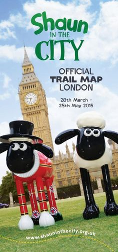Get ready Shaun hunters! The Shaun in the City London Trail map is available at the City of London Information Centre, St Paul's ChurCHyard, EC4 M8BX