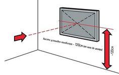 Картинки по запросу на какой высоте вешать телевизор