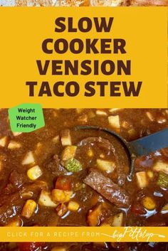 This easy slow cooker stew using deer meat has the deep flavors of an enchilada or taco soup with pantry staples. Its a quick and filling meal for a week night or take camping or deer camp. #deerrecipes #venisonrecips #campingrecipes #slowcookersoup #tacosoup #deerchili #deerleasemeals #crockpotdeermeatrecipes Deer Recipes, Ww Recipes, Great Recipes, How To Cook Venison, Venison Meat, Slow Cooker Soup, Slow Cooker Recipes, Deer Stew, Bowl Of Soup