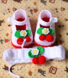 Croche pro Bebe: Sapatinhos achados na Net