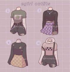 Teen Fashion Outfits, Anime Outfits, Retro Outfits, Cute Casual Outfits, Girl Outfits, Fashion Design Drawings, Fashion Sketches, Portfolio Fashion, Mode Emo