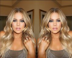 Love her hair color, Khloe Kardashian Blonde Armenia Khloe Kardashian Hair, Kardashian Beauty, Khloe Hair, Kardashian Style, Make Up Inspiration, Fashion Inspiration, Great Hair, Gorgeous Hair, Stunning Eyes