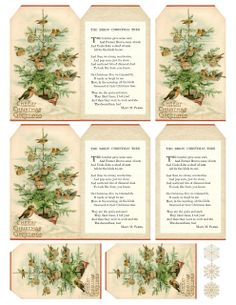 """The Birds' Christmas Tree"" ~ gift tags, free printable"