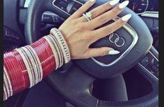Red chura and wedding ring Wedding Week, Wedding Pics, Dream Wedding, Punjabi Bride, Punjabi Chura, Punjabi Wedding, Bridal Bangles, Bridal Jewelry Sets, Chuda Bangles
