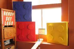 Lego Party. Lego races and oversized Lego decorations