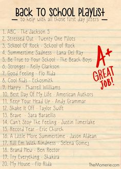 Help ease back to school jitters with this playlist Music Mood, Mood Songs, School Of Rock, Back To School, Music Quotes, Music Songs, Piano Music, Motivational Music, Gospel Music