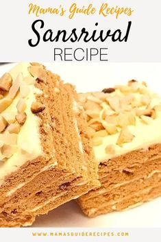 Our Sansrival Recipe is a delicious dessert made from layers of rich meringue layers, silky buttercream and chopped toasted cashew nuts. Pinoy Dessert, Filipino Desserts, Asian Desserts, Filipino Food, Easy Filipino Recipes, Cuban Recipes, Sansrival Cake Recipe, Easy Sans Rival Recipe, Sylvanas Recipe