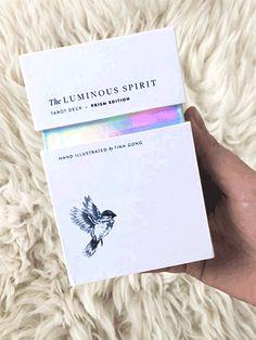 Luminous Spirit Tarot Deck: Holographic tarot cards with minimalist, hand-drawn imagery