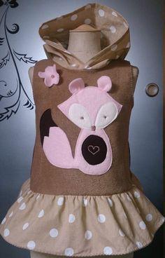 ♥Fuchs♥ Wunschgrösse 98 - 134 ✿ ROOS Farbenmix Hoodie Tunika Kapuzen Kleid ♥ 6