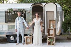 Streamline trailer wedding   Monashee Photography   see more on: http://burnettsboards.com/2015/08/bohemian-elopement/