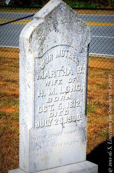 Martha B. Long (Tombstone Tuesday with a Poem) #genealogy