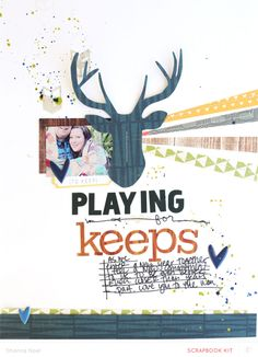 Love the typography Playing For Keeps *MAIN KIT*  by ShannaNoel at @Studio_Calico #SCcoppermountain