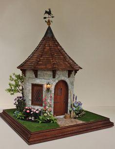 fairytale miniature garden house by Teresa Layman Clay Fairy House, Gnome House, Fairy Garden Houses, Fairies Garden, Clay Houses, Miniature Houses, Miniature Fairy Gardens, Paper Houses, Miniature Dolls