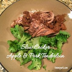 21 Day Fix Slow Cooker (crockpot) Meal  Apple & Pork Tenderloin www.timmipark.com