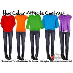 how colour affects contrast