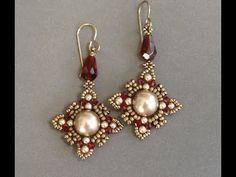 Sidonia's handmade jewelry - Oriental earrings - Beading tutorial - YouTube