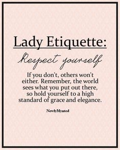 Exactly! Sober up. Don't give yourself away so easily. Stop chasing, begging, or tricking men into being with you. Show the respect for another's marriage, family, and happiness that you would want for your own. It's never too late to earn respect, and it starts with yourself.